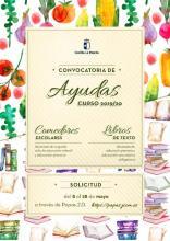 Cartel Ayudas a Comedores Escolares y Uso de Libros de Texto.