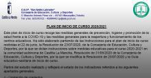 DIVILGACIÓN DEL  PLAN DE INICIO DE CURSO. PLAN DE CONTINGENCIA.